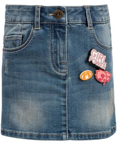Destroyed jeansrokje